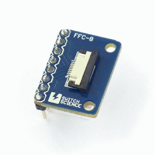FeliCa Plug ピッチ変換基板 ピンヘッダ実装済 (フラットケーブル付き) --販売終了