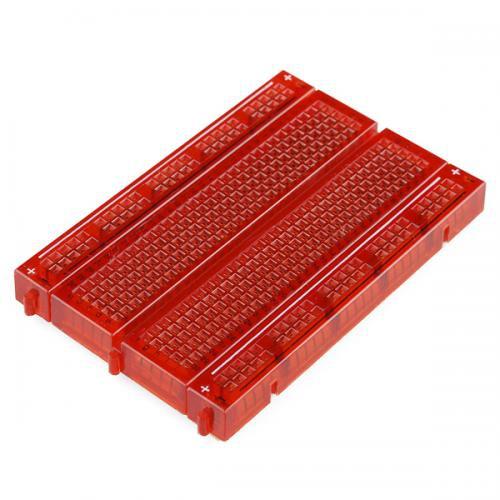 透明なブレッドボード(赤)