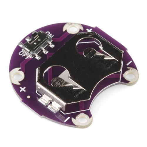 LilyPadコイン型電池ホルダー(スイッチ付き)--販売終了
