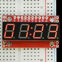 シリアル接続7セグメント4桁LED(赤)
