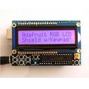 I2C接続のLCDシールドキット(RGBバックライト・黒文字)