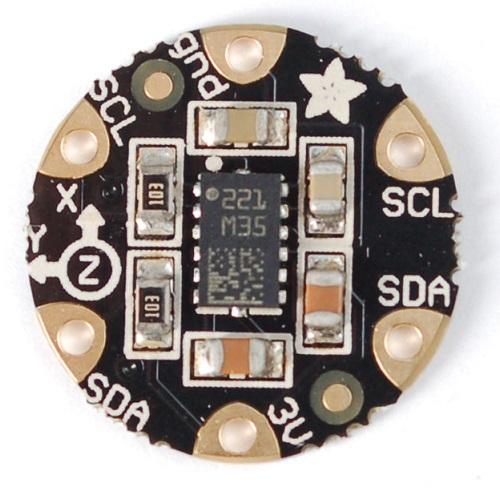Flora 加速度・地磁気センサ(LSM303搭載) v1.0