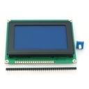 グラフィックLCD 128x64 STN LEDバックライト (青地・白ドット)--在庫限り