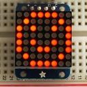 Adafruit I2C通信の8x8ミニLEDマトリックス基板(赤色)