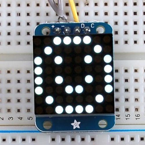 Adafruit I2C通信の8x8ミニLEDマトリックス基板(白色)