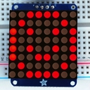 Adafruit I2C通信の8x8 1.2インチLEDマトリックス基板(赤色)