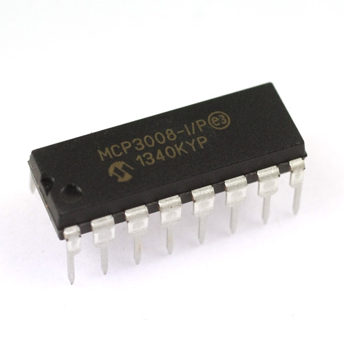 MCP3008 8チャネル 10ビット A/Dコンバータ(SPI接続)