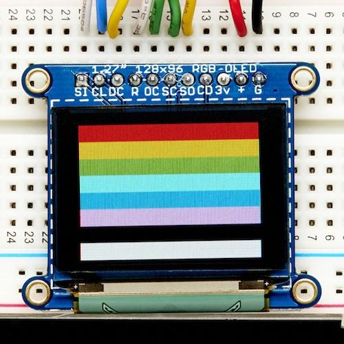 1.27インチ 16ビット色のOLEDディスプレイ(microSDスロット付き)
