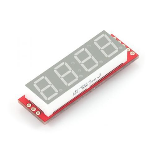 シリアル接続7セグメント4桁LED--販売終了