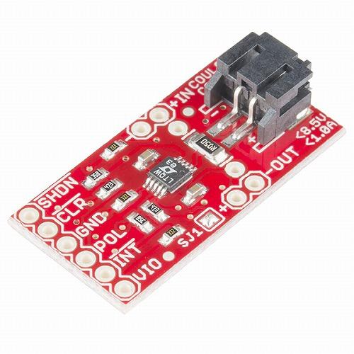 LTC4150搭載クーロンカウンタ方式電池残量計測ICピッチ変換基板--在庫限り