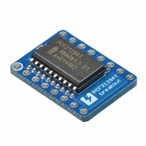 PCF2129AT real time clock with SPI/I2C bus interface breakout board
