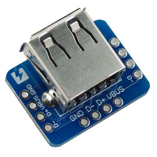 USB Aレセプタクルピッチ変換基板(横型)