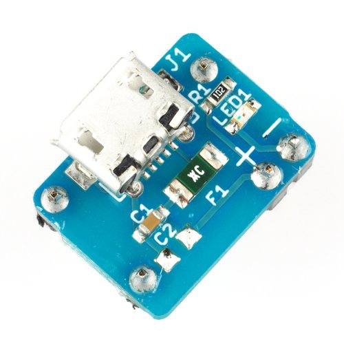 ブレッドボード用5V電源ボード Micro-B版 ヒューズ付き