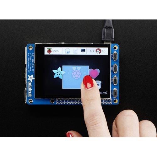 PiTFT Plus - Raspberry Pi A+/B+/2用 2.8インチTFT+静電容量式タッチスクリーン液晶