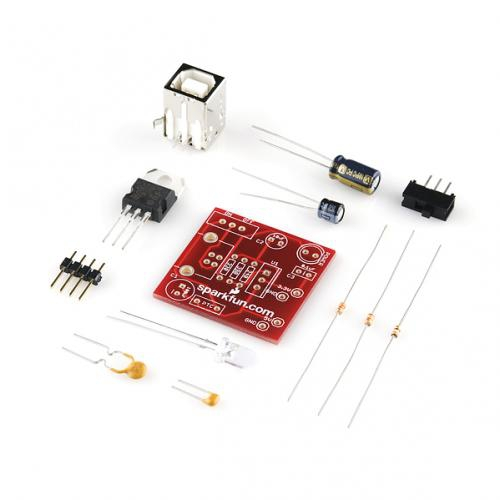 SparkFunブレッドボード用電源ボードUSB版(キット)