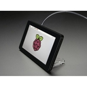 Raspberry Pi用 7インチ タッチスクリーン付き液晶ディスプレイ用ケース(黒)