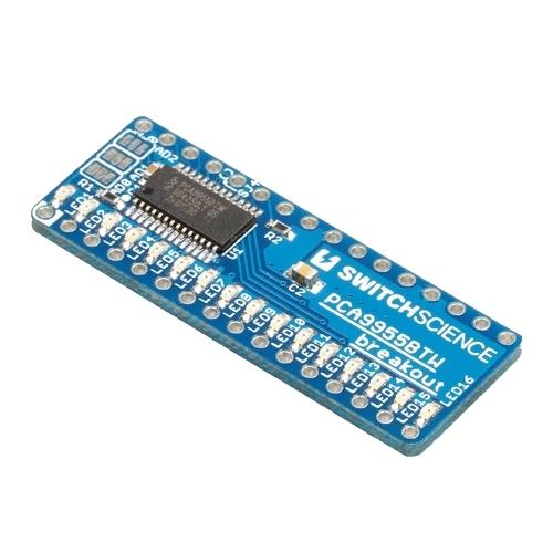 PCA9955BTW I2C 16ch 電流源型LEDドライバ基板