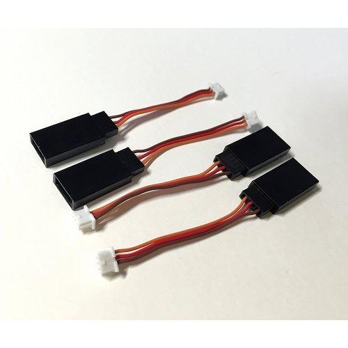 bCore用ノーマルサーボ変換コネクタ 4本セット--販売終了