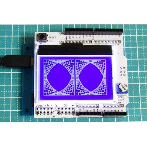 128×64モノクログラフィックLCDシールド
