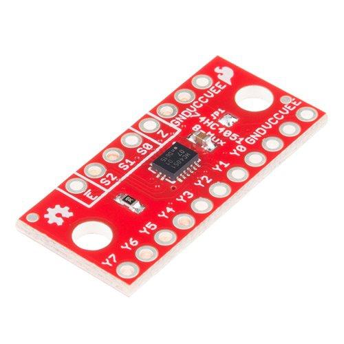 74HC4051搭載 8chマルチプレクサピッチ変換基板