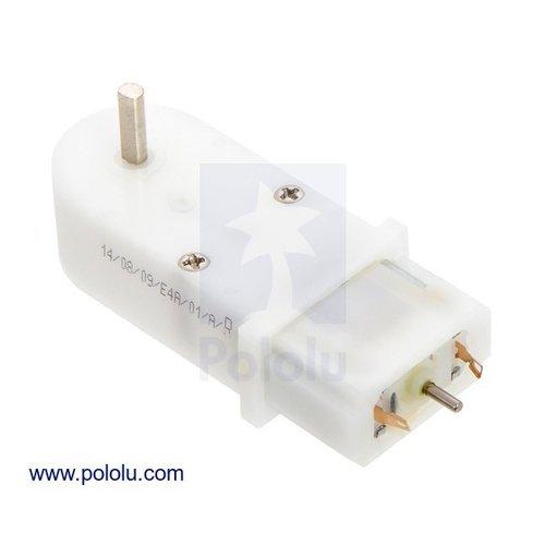 120:1 シャフト付きミニプラスチックギアドモーター HP(90度)