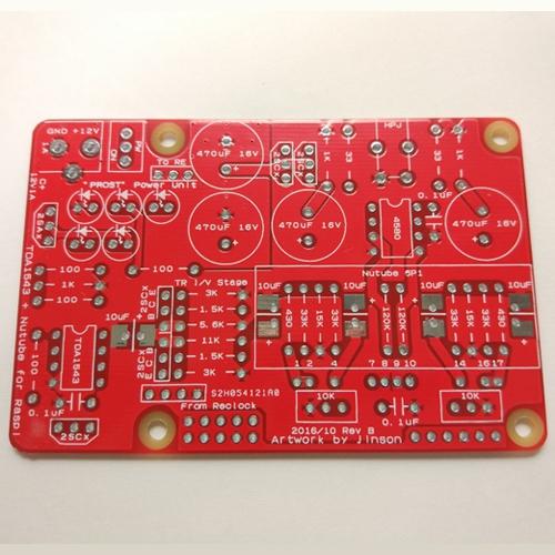 TDA1543 + Nutube ヘッドフォンアンプ for Raspberry Pi