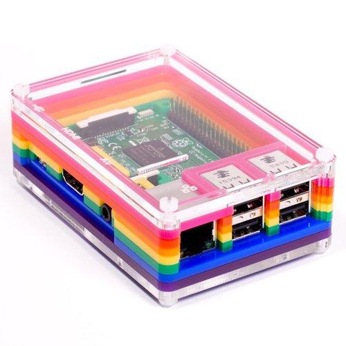 Raspberry Pi用ケース Pibow 3 - Rainbow--販売終了