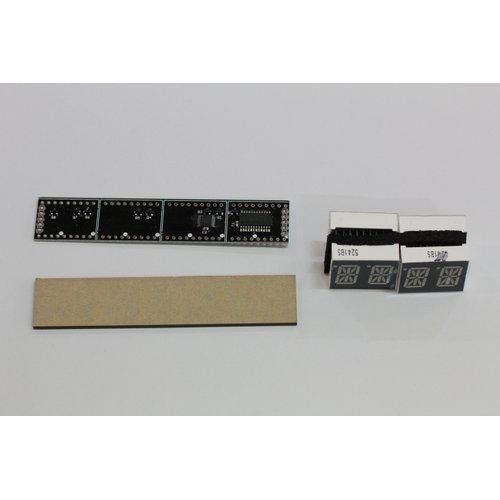 シリアル接続 14セグメントLED表示機(半完成キット)
