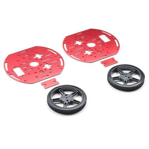 円形ロボットシャーシキット(二層・タイヤ付き)