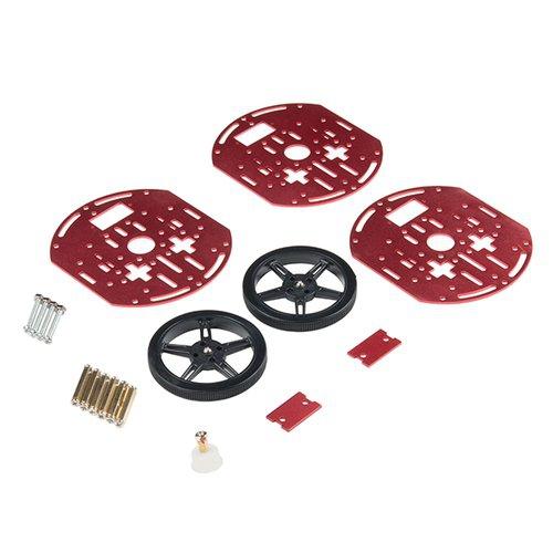 円形ロボットシャーシキット(三層・タイヤ付き)