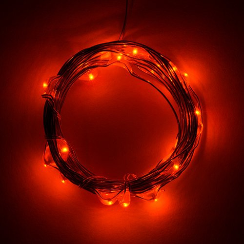 電源付きLEDテープ Fairy Lights - 橙色(2.5m)