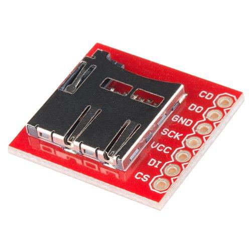SparkFun マイクロSDカードスロット・ピッチ変換基板