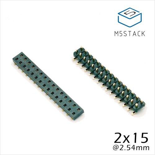 M5Stack用2 x 15ピンヘッダ・ソケットセット
