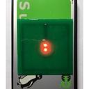 ICカード読み取り機に近付けると光る基板