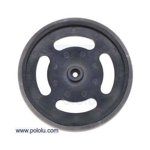 フタバサーボ軸用プラスチックホイール(黒)
