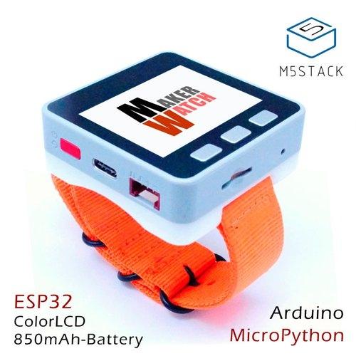 M5Stack用ウォッチバンド(オレンジ)--在庫限り