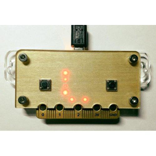 micro:bit用遮光板付アクリルケース--在庫限り