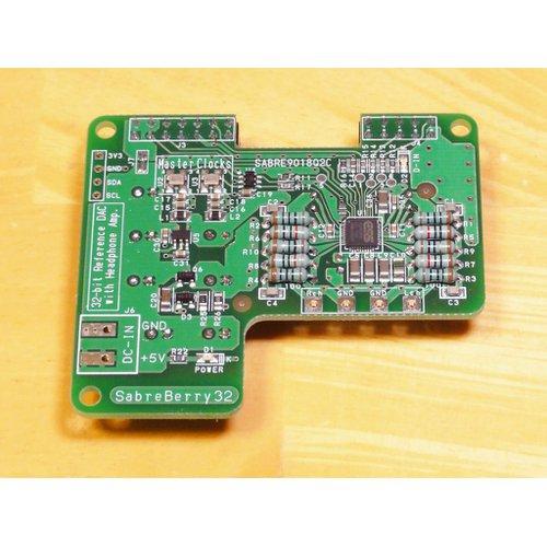 Raspberry Pi 用DAC基板 SabreBerry32(フル実装モデル)