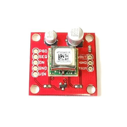 DC-DCコンバータモジュール・ピッチ変換済みボード(最大6A)--在庫限り