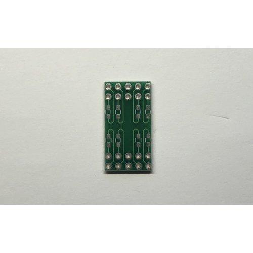7セグメントLED 簡易化基板(外側)