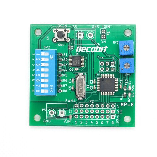 MP-8(MIDIからPWM 8ポート)