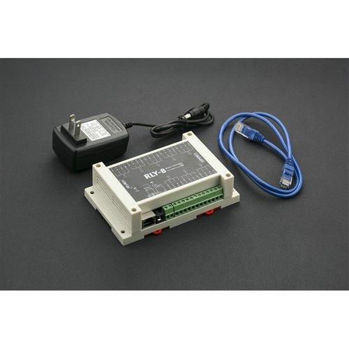 《お取り寄せ商品》8 Channel IoT Ethernet Relay Controller (Support PoE and RS485)