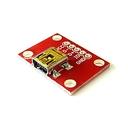 USBミニBコネクタ・ピッチ変換基板