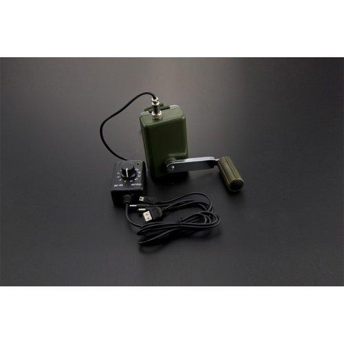 《お取り寄せ商品》Portable Hand Crank Power Generator with Voltage Regulator