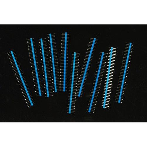 《お取り寄せ商品》0.1″ (2.54 mm) Arduino Male Pin Headers (Straight Blue 10pcs)