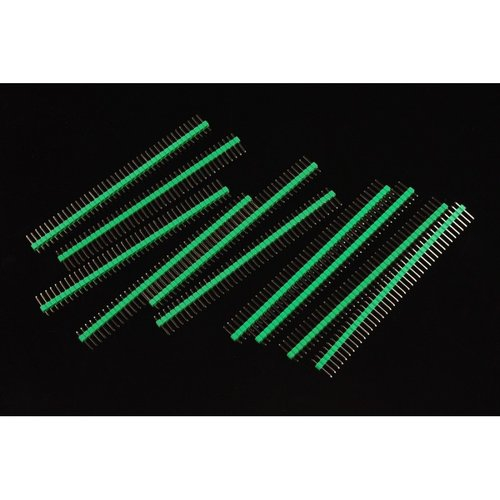 《お取り寄せ商品》0.1″ (2.54 mm) Arduino Male Pin Headers (Straight Green 10pcs)