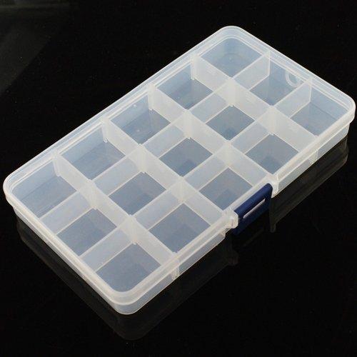 《お取り寄せ商品》Adjustable Compartment Parts Box - 15 compartments