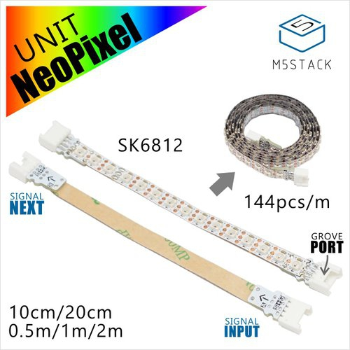 M5Stack用NeoPixel互換 LEDテープ 200 cm