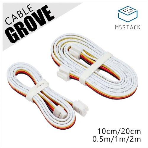 M5Stack用GROVE互換ケーブル 10 cm(5個入り)