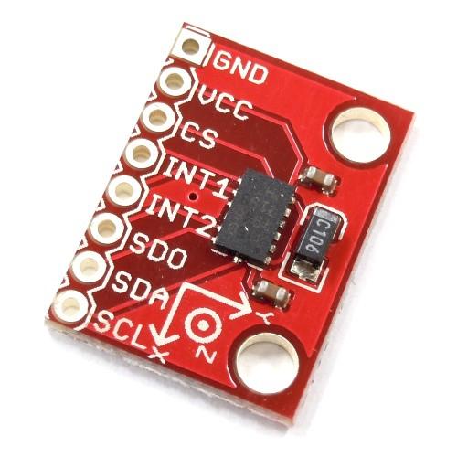 ADXL345搭載三軸加速度センサモジュール